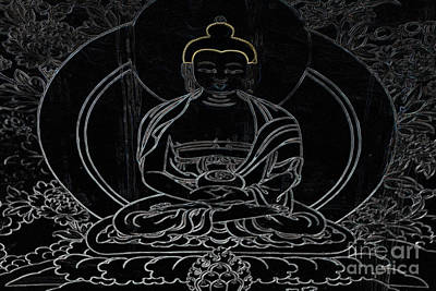 Tibetan Buddhism Photograph - Tibet Buddha Black by Kate McKenna