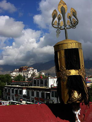 Photograph - Tibet - Lhasa - Potala Palace From Jokhang Temple by Jacqueline M Lewis