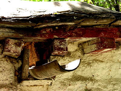 Photograph - Tibet - Lhasa - Sera Monastery Roof Detail by Jacqueline M Lewis