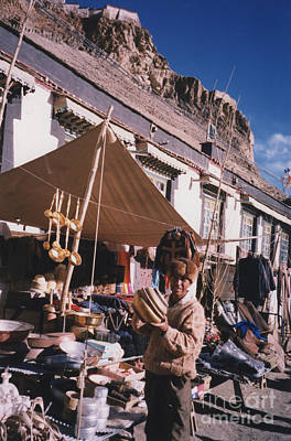 Photograph - Tibet Market At Gyantse By Jrr by First Star Art