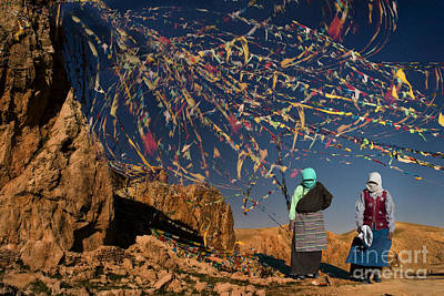 Digital Art - Tibet Prayerflags by Angelika Drake