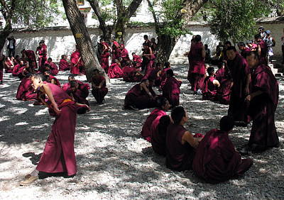 Photograph - Tibet - Sera Monastery - Monks In Debate by Jacqueline M Lewis