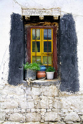 Tibet Window Art Print