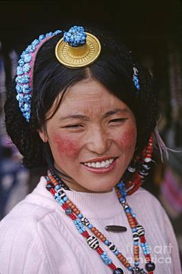 Photograph - Tibetan Beauty - Lhasa Tibet by Craig Lovell