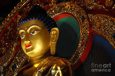 Photograph - Tibetan Buddha 8 by Bob Christopher
