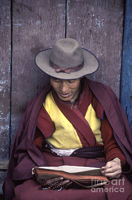 Photograph - Tibetan Buddhist Monk - Lhasa Tibet by Craig Lovell