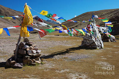 Photograph - Tibetan Buddhist Prayer Flags by Yew Kwang