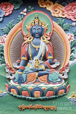 Tibetan Buddhist Temple Deity Art Print by Tim Gainey