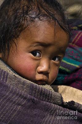 Photograph - Tibetan Child - Samdo Village Nepal by Craig Lovell