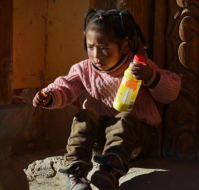Photograph - Tibetan Girl by Yue Wang