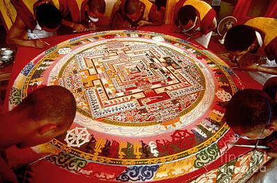 Sand Mandala Photograph - Tibetan Mandala by Kazuyoshi Nomachi