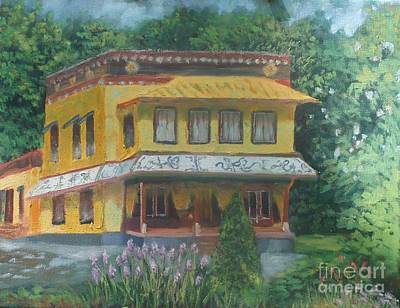 Painting - Tibetan Monastery by Ron Bowles