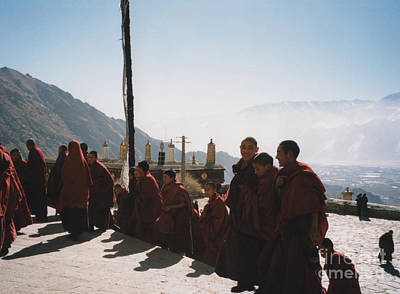 Photograph - Tibetan Monks 2 by First Star Art