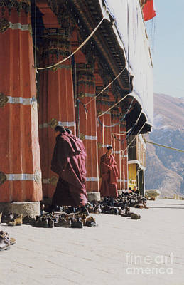 Photograph - Tibetan Monks At Sera by First Star Art