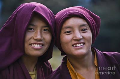 Photograph - Tibetan Nuns - Nepal Himalaya by Craig Lovell
