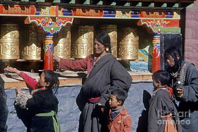 Photograph - Tibetan Pilgrims - Sakya Monastery Tibet by Craig Lovell