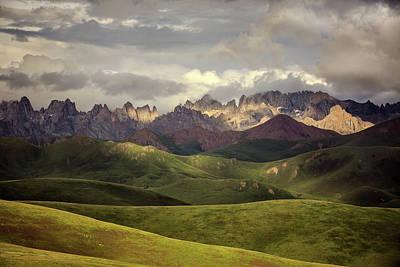 Tibetan Photograph - Tibetan Plateau by James Yu