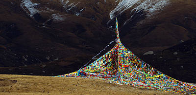 Photograph - Tibetan Prayer Flags by Yue Wang