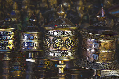 Photograph - Tibetan Prayer Wheels by Valerie Rosen
