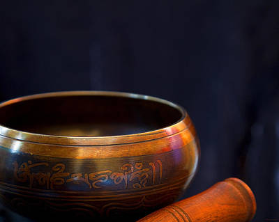 Photograph - Tibetan Singing Bowl by Theresa Tahara