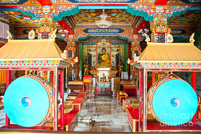 Banian Photograph - Tibetan Temple - Bodhgaya - India by Luciano Mortula