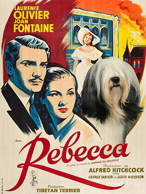 Painting - Tibetan Terrier Art - Rebecca Movie Poster by Sandra Sij