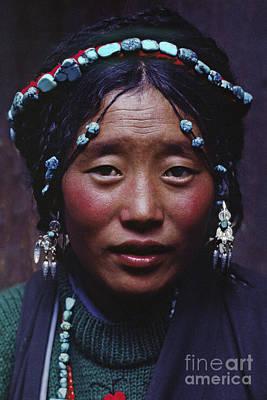 Photograph - Tibetan Woman - Lhasa by Craig Lovell