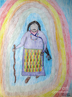 Drawing - Tibetan Woman by Elizabeth Stedman