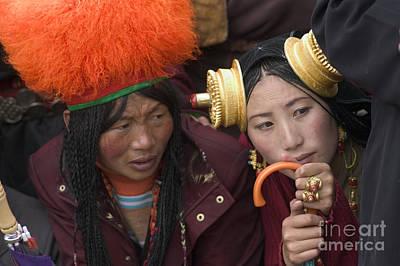 Photograph - Tibetan Women - Litang Tibet by Craig Lovell