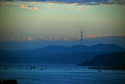 Sausalito Photograph - Tiburon's View Of Sutro Tower by Eric Tressler