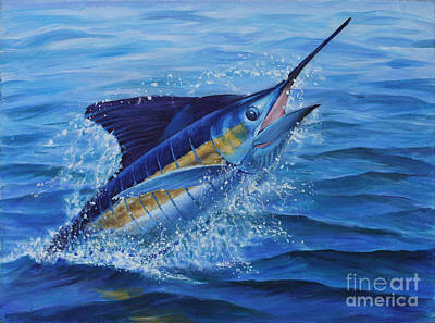 Panama City Beach Painting - Ticked Off Blue Marlin by Jay Prentice