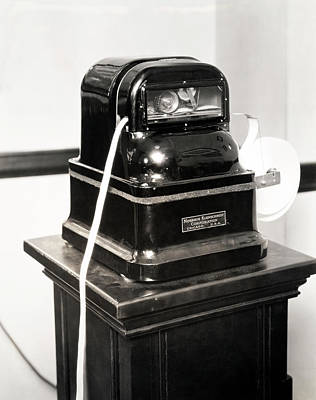 Photograph - Ticker Tape Machine by Underwood Archives