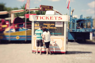 Ticket Booth Art Print by K Hines