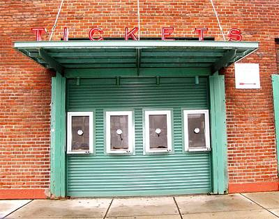 Red Soxs Photograph - Ticket Booth  by Michelle Wiltz