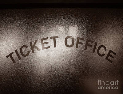 Nostalgic Sign Photograph - Ticket Office Window by Olivier Le Queinec