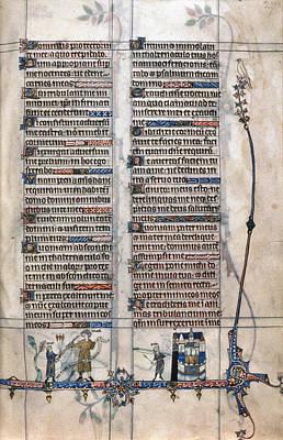 Psalter Painting - Tickhill Psalter, C1310 by Granger