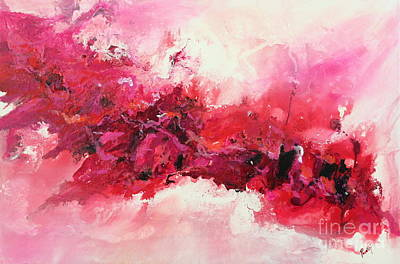 Mars Black Painting - Tickled Pink by Preethi Mathialagan