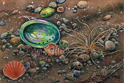Tumbleweed Painting - Tidal Abstract by Val Stokes