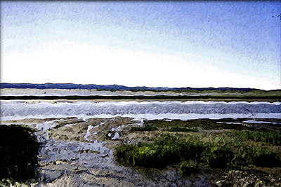 Tidal Flats Art Print by Christopher Bage