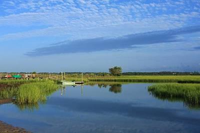 Tidal Marsh At Wrightsville Beach Art Print