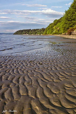 Art Print featuring the photograph Tidal Pattern In The Sand by Jeff Goulden