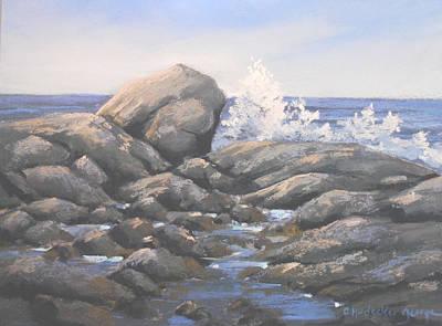 Maine Seacoast Painting - Tidal Pool by Christine Hodecker-George