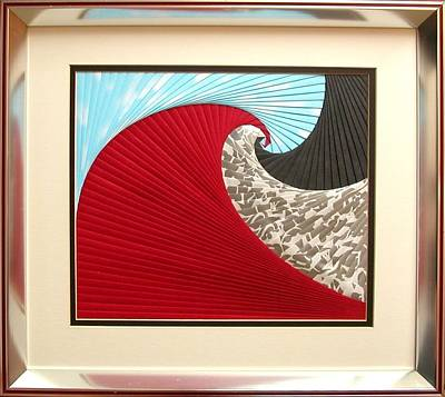 Mixed Media - Tidal Wave by Ron Davidson
