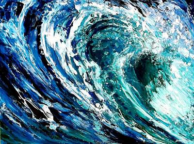 Tidal Wave Art Print by Suzanne King