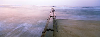 Tide Break On The Beach At Sunrise Art Print by Panoramic Images