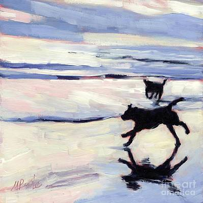 Dog Beach Painting - Tide Out by Molly Poole