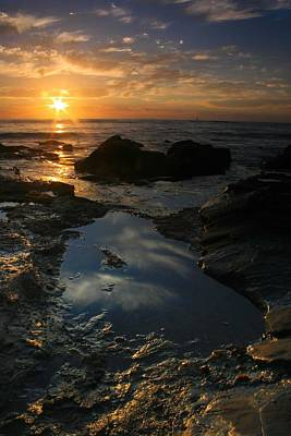 Tide Pool Reflection Art Print by Scott Cunningham