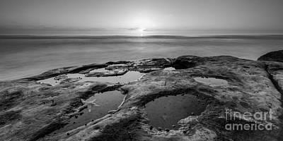 Tide Pool Sunset 16x8 Crop Bw Original