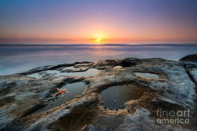 Tide Pool Sunset Art Print by Michael Ver Sprill