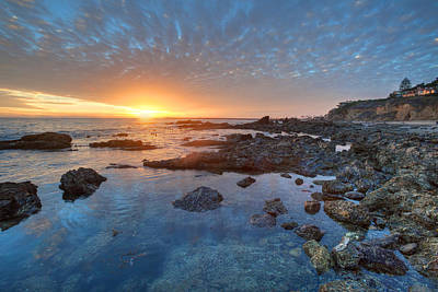 Photograph - Tide Pools And Sunset by Cliff Wassmann